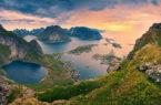 isole lofoten dall'alto