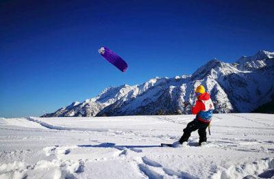 escursioni snowkite