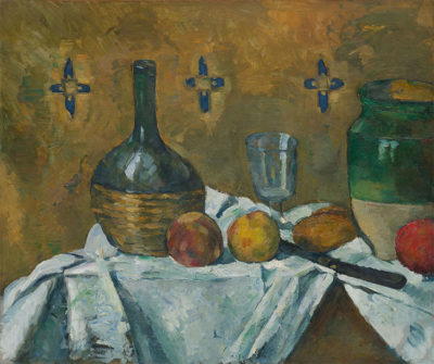 Guggenheim Paul-Cézanne.-Fiasco,-bicchiere-e-vasellame