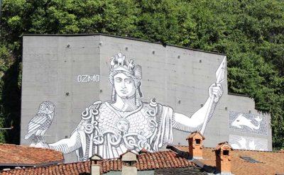 Street art Visit-Brescia-Wall-in-Art-Minerva Ozmo Breno (Credit Luca Giarelli)