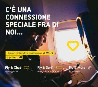 Vueling. Wi-Fi a bordo per Internet in volo