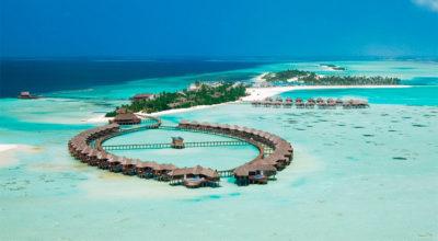 atolli Olhuveli-Beach&SPA-dall'alto