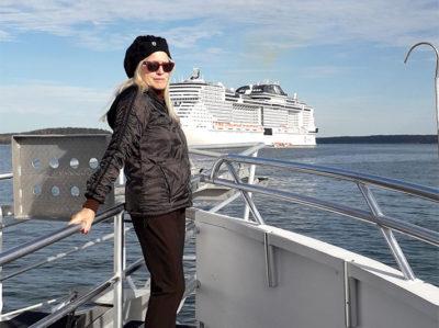 Sulla lancia per sbarcare a Bar Harbor