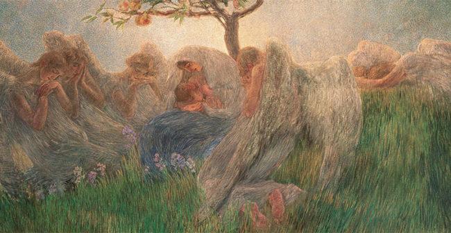 """Gaetano Previati, """"Maternità"""", 1890-1891"""