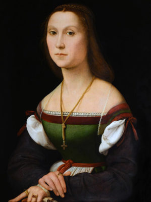 Urbino. Palazzo Ducale, ritratto di gentildonna detta La Muta