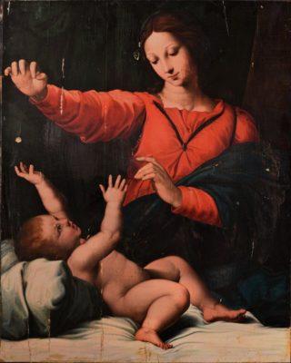 """""""Madonna del velo o Madonna di Loreto"""" di Raffaello."""