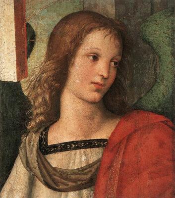 Raffaello-Angelo-frammento-pala-Baronci