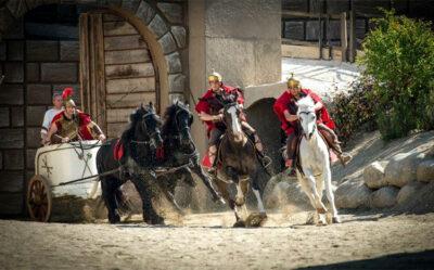 Passione Entrata-della-biga-e soldati a cavallo