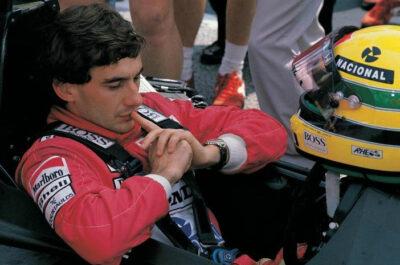Senna nella-monoposto