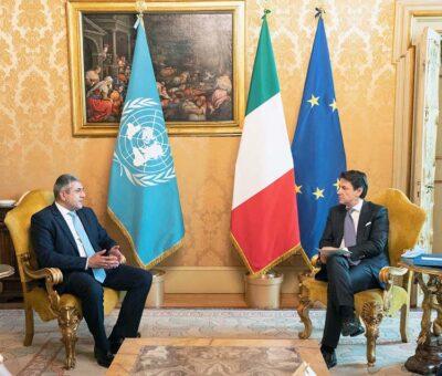 Il Segretario Generale dell'UNWTO col premier Conte