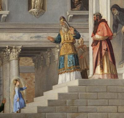 La-presentazione-della-Vergine-al-Tempio_Tiziano-Vecellio-dettaglio