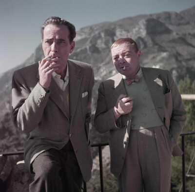 Humphrey-Bogart-e-Peter-Lorre-sul-set-di Il Tesoro dell'Africa_Aprile-1953_Credits-Robert-Capa-International-Center-of-Photography-Magnum-Photos