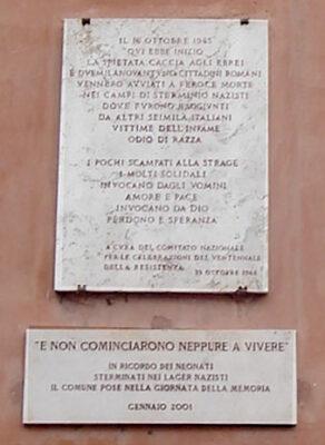 Roma-ghetto targa-commemorativa
