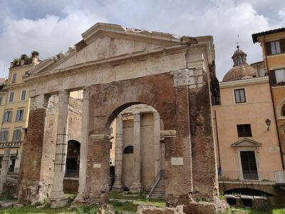 Roma-ghetto ebraico portico-d'ottavia