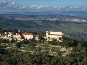 Monte Tabor, foto aerea. Crediti Israel Ministry of Tourism