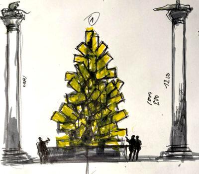albero della vita il progetto di Plessi