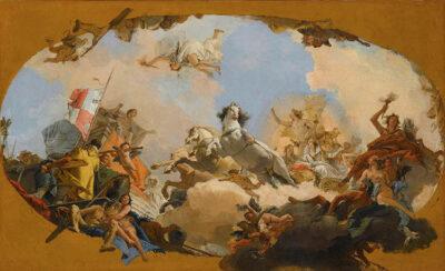 Apollo conduce Beatrice di Borgogna al Genio dell'Impero