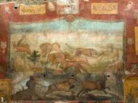 Affresco di caccia nel giardino della Casa dei Ceii (ph. © Luigi Spina)
