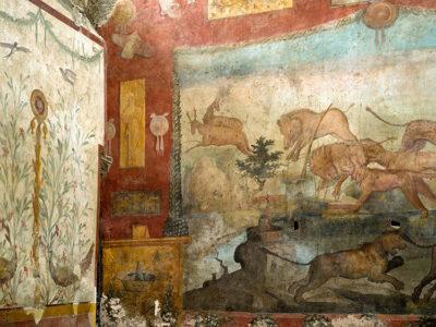 Affresco-dell-Caccia-Casa-dei-Ceii-Pompei-03-®luigispina