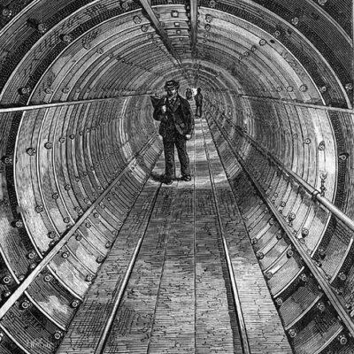 Illustrazione-del-Tunnel-sotto-il-Tamigi-pubblicato-da-London-News,-1870.