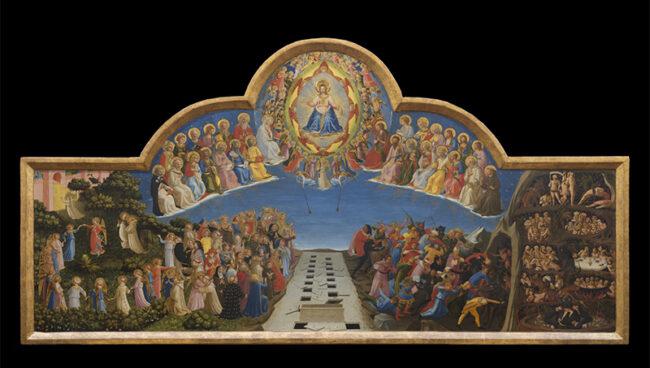 """Beato Angelico, """"Giudizio Finale"""", 1425-1430 - Firenze, Museo di San Marco"""