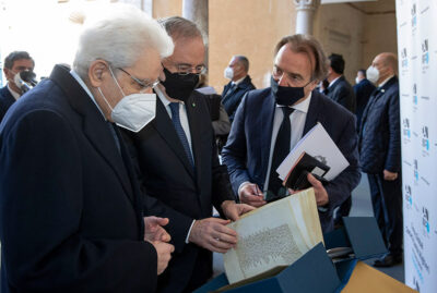 Presidente Mattarella e Andrea Riccardi