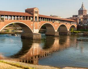 Pavia, ponte Coperto sul Ticino
