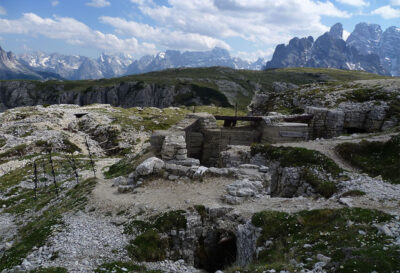 Monte Piana War Trenches Dolomites Italy