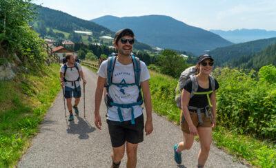 Ragazzi-belgi si uniscono al cammino nel tratto Trentino