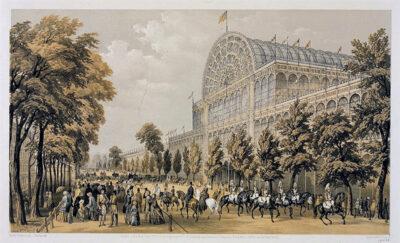 Veduta lato sud del Crystal Palace Litografia 1851 Victoria & Albert Museum