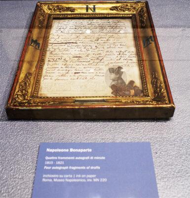 Napoleone ultimo atto lettera-autografa