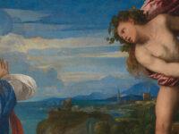 """Dettaglio del dipinto """"Bacco e Arianna"""" (1520-1523) di Tiziano Vecellio"""