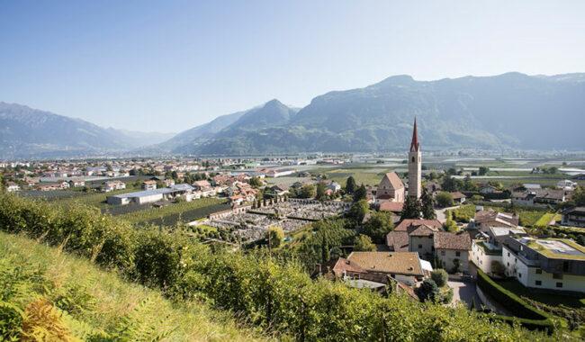 Panoramica sul paesaggio di Lana (credit Lana Region)