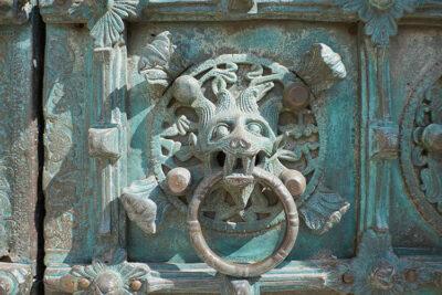 Troia Formelle del portale di bronzo Basilica Cattedrale