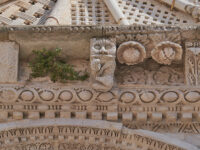 Particolari simbolici della facciata-Basilica-Cattedrale (ph. © 2021 emilio dati)