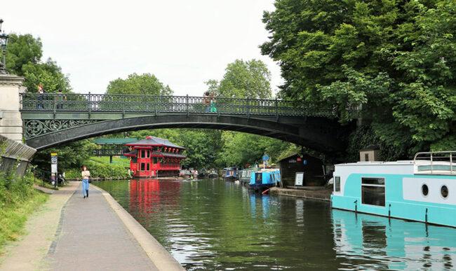 Londra, tratto del canale lungo Regent's Park