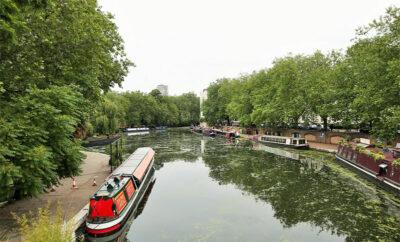 Regent's Canal Il tratto finale del canale presso Little Venice