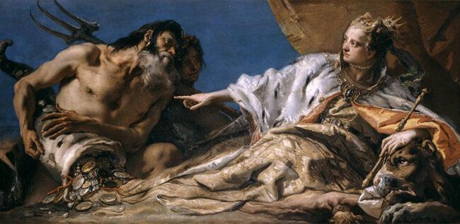 Giandomenico Tiepolo, Venezia riceve da Nettuno le ricchezze del mare, 1756-1758