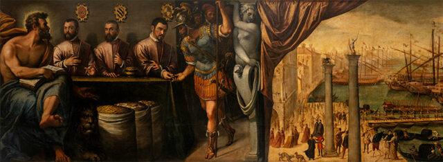 Venetia 1600 Battista-d'Agnolo San-Marco-assiste-i-Magistrati-della-Camera