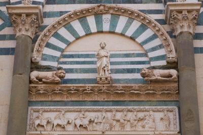Pistoia Pieve di Sant'Andrea lunetta coi magi