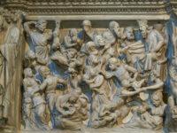 Pieve Sant'Andrea pulpito di Giovanni Pisano (2021 © emilio dati - mondointasca)