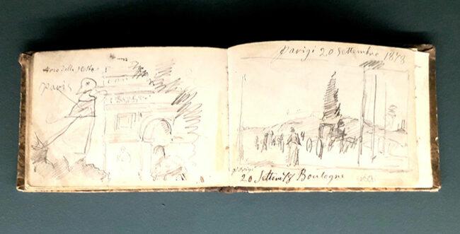 Taccuino di Noè Bordignon del suo viaggio a Parigi