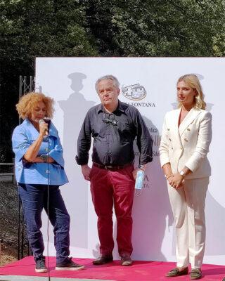 Reggia Tiziana Mafferi, Mauro Felicori, Mariapia Fontana, foto di Gianfranco Nitti