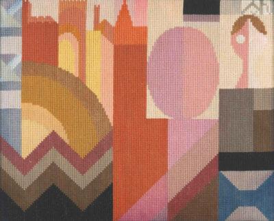 Sophie Taeuber-Arp embroidery-circa-1920